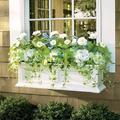 Devon Easy-Care Window Box Planter Pots - White, 5' - Grandin Road