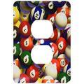 3dRose lsp_962_6 Billiard Balls Pool 2 Plug Outlet Cover