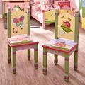 Fantasy Fields - Magic Garden Thematic Kids Wooden 2 Chairs Set   Imagination Inspiring Hand Crafted & Hand Painted Details   Non-Toxic, Lead Free Water-Based Paint