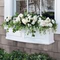 Nantucket Easy-Care Window Box Planter Pots - White, 5'L - Grandin Road