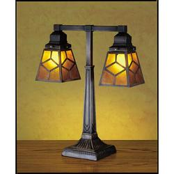 Meyda Tiffany 27879 Craftsman / Mission Table Lamp from the Mica Missions Collection Tiffany Glass