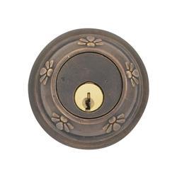 Emtek 8356 Tuscany Style Lost Wax Cast Bronze Double Cylinder Deadbolt Medium Bronze