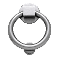 Baldwin 0195 Ring Style Solid Brass Door Knocker Satin Chrome