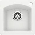 "Blanco 440205 Diamond 15"" Drop-In or Undermount Single Basin SILGRANIT Kitchen Bar Sink White"