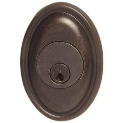 Emtek 8473 #14 Style Tuscany Bronze Single Cylinder Deadbolt Medium Bronze