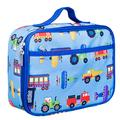 Wildkin Insulated Lunch Box for Boys and Girls, Perfect Size for Packing Hot or Cold Snacks for School and Travel, Mom's Choice Award Winner, BPA-free, Olive Kids (Trains, Planes and Trucks)