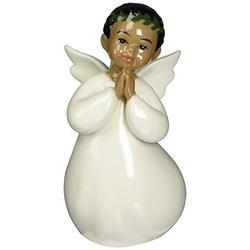 Cosmos 96631 Fine Porcelain Praying African American Angel Boy Figurine, 4-Inch