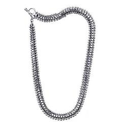Sterling silver chain necklace, 'Centipede Crawl'