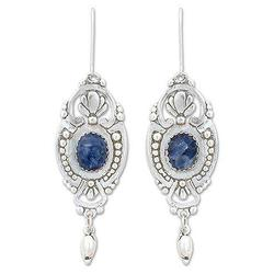 '19th Century' - Handcrafted Mexican Sterling Silver and Sodalite Earrings