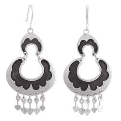 Sterling silver dangle earrings, 'Half Moons'