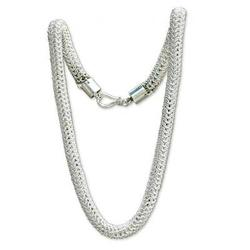 Sterling silver chain necklace, 'Links Together'