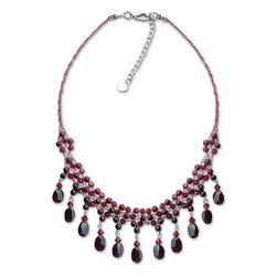 'Labyrinth' - Hand Crafted Garnet Choker Necklace from Thailand