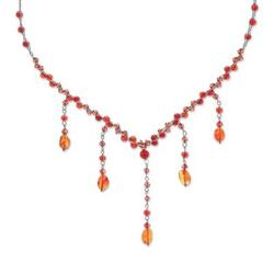 Carnelian choker, 'Ginger Empress' - Carnelian Y Necklace
