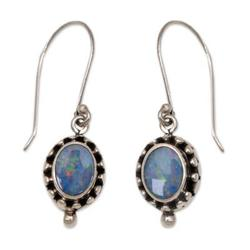 Opal dangle earrings, 'Fairy Princess'