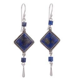 'Legacy' - Lapis Lazuli and Sterling Dangle Handmade Earrings