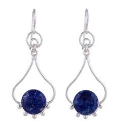 'Andean Moon' - Lapis Lazuli and Silver Earrings