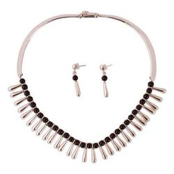 'Chantico Goddess' - Handcrafted Taxco Silver and Onyx Choker Necklace