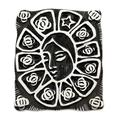 Sterling silver brooch pin pendant, 'Lady of Guadalupe Star'