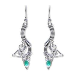 Agate dangle earrings, 'Ivy Moon'
