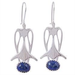 Sodalite drop earrings, 'Blue Bell'