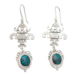 'Union' - Fair Trade Sterling Silver Turquoise Earrings