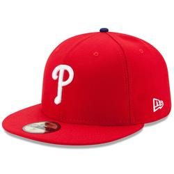"""""""Men's New Era Red Philadelphia Phillies Game Authentic Collection On-Field 59FIFTY Fitted Hat"""""""