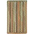 Capel Rugs St. Johnsbury Vertical Stripe Rectangle Braided Area Rug, 4 x 6, Wheat
