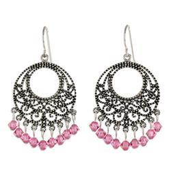 'Moroccan Rose' - Sterling Silver Chandelier Earrings