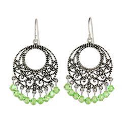 'Moroccan Mint' - Sterling Silver Chandelier Earrings