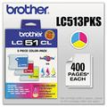 Brother LC-51 Ink Cartridge ( Cyan,Magenta,Yellow , 3-Pack )