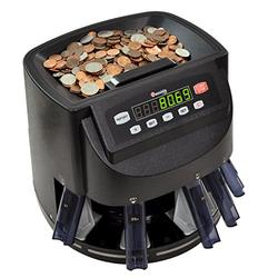 Cassida C200 Coin Counter, Sorter and Wrapper | Counts, Sorts and Rolls 1¢, 5¢, 10¢, 25¢ and Dollar Coins up to 300 Coins Per Minute | Batch & Add Features | Included 5 Coin Bins, 5 Tubes & Wrappers