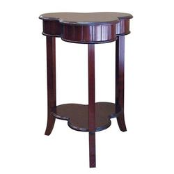 ORE Furniture Shamrock End Table Wood in Brown, Size 28.0 H x 18.5 W x 18.5 D in | Wayfair H-125