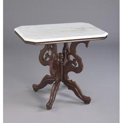 AA Importing End Table Slate/Stone/Wood in Brown/Gray/White, Size 26.0 H x 30.0 W x 20.0 D in | Wayfair 38403