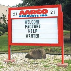 AARCO Marquee Changeable Sign System w/ Optional Symbol Case in Multiple Colors in Blue, Size 58.0 H x 86.0 W x 8.0 D in | Wayfair DMBS5286B