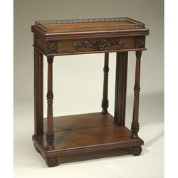 AA Importing End Table Wood in Brown, Size 37.0 H x 28.0 W x 13.0 D in   Wayfair 46265