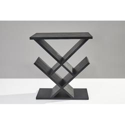 Adesso Zig-Zag End Table Wood in Black/Brown, Size 21.25 H x 19.0 W x 12.0 D in   Wayfair WK4614-01