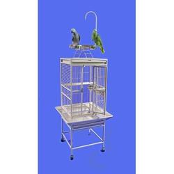 """A&E Cage Co. Small Play Top Bird Cage, Iron in Green, Size 54""""H X 18""""W X 18""""D 