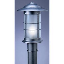 Arroyo Craftsman Newport Outdoor 1-Light Lantern Head in Gray, Size 26.5 H x 18.75 W x 9.125 D in | Wayfair NP-9RM-S
