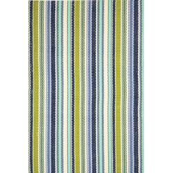 Dash and Albert Rugs Pond Striped Handwoven Indoor/Outdoor Area Rug Polypropylene in Blue/Green, Size 108.0 H x 72.0 W x 0.25 D in   Wayfair