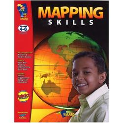 On the Mark (formerly T4T) Mapping Skills Grade 4-6 Book, Size 11.0 H x 8.5 W x 0.25 D in | Wayfair OTM107