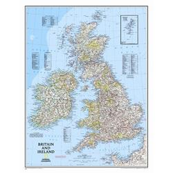"""National Geographic Maps Britain & Ireland Wall Map Map Type: Standard (23"""" x 30""""), Size 30""""H X 23""""W 