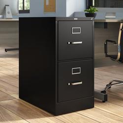 HON 510 Series 2-Drawer Vertical Filing Cabinet Metal/Steel in Black, Size 29.0 H x 14.94 W x 25.06 D in   Wayfair HON512PP