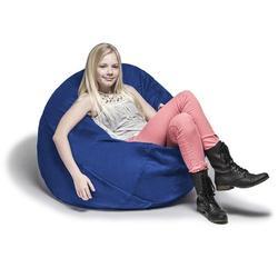 Jaxx Large Bean Bag Chair & Lounger Fade Resistant/Microfiber/Microsuede in Brown, Size 16.0 H x 45.0 W x 45.0 D in   Wayfair 11643279