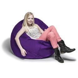 Jaxx Large Bean Bag Chair & Lounger Fade Resistant/Microfiber/Microsuede in Indigo, Size 16.0 H x 45.0 W x 45.0 D in | Wayfair 11643280