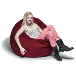 Jaxx Large Bean Bag Chair & Lounger Fade Resistant/Microfiber/Microsuede in Red, Size 16.0 H x 45.0 W x 45.0 D in | Wayfair 11643276