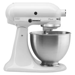 KitchenAid Classic Series 10 Speed 4.5 Qt. Stand Mixer in White, Size 13.9 H x 8.75 W x 14.13 D in | Wayfair K45SSWH
