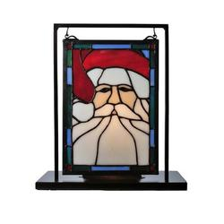Meyda Tiffany Holiday Santa Head Lighted Mini Lamps, Size 10.5 H x 9.5 W x 5.0 D in   Wayfair 65250