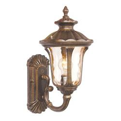 Livex Lighting Oxford Moroccan Gold Outdoor Wall Lantern Aluminum/Metal in Brown/Gray, Size 15.5 H x 7.25 W x 8.75 D in | Wayfair 7650-50