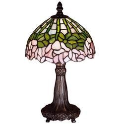 """Meyda Tiffany Cabbage Rose 13"""" Table Lamp Glass/Metal in Brown/Gray/Green, Size 13.0 H x 8.0 W x 8.0 D in   Wayfair 30312"""