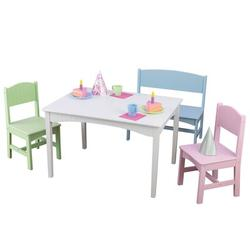 KidKraft Nantucket 4 Piece Play Table & Chair SetWood in Green, Size 19.5 H x 31.5 W x 23.6 D in | Wayfair 26112